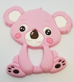 Siliconen Bijtring - Koala Roze