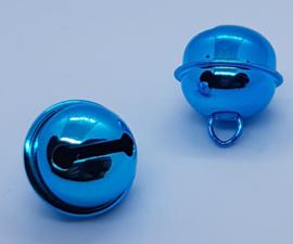 22mm Aqua Blauwe Belletjes (5 stuks)