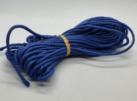 Wax koord 3mm Donker Blauw