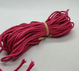 Wax koord 3mm Donker Roze