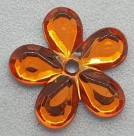 Oranje Bloemen Pailletten 12mm