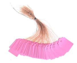 100 Luxe Roze Prijskaartjes 3,5 x 2,5 cm