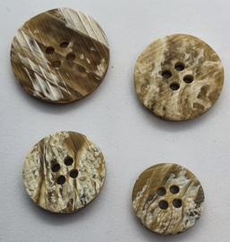 Bruin Witte Knoop 15, 18, 20 & 23mm