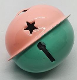 Gekleurde Bellen met Sterren Roze Mint Groen 40mm