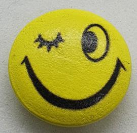 Knoop Geel met Emoji Smile