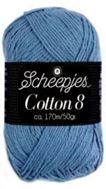 Scheepjes Cotton 8 nr 711 JeansBlauw
