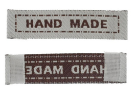 Beige Stoffen Handmade Labels 4,5 cm (5 Stuks)