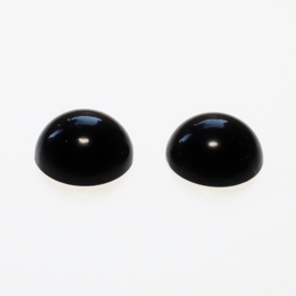 Halve kraal oogjes zwart 3mm