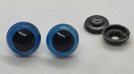 Veiligheidsogen Blauw 14mm (2 stuks)