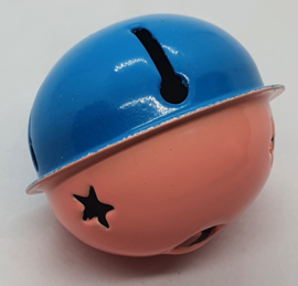 Gekleurde Bellen met Sterren Blauw Roze 40mm