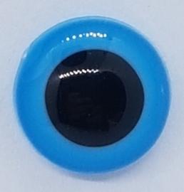 Veiligheidsogen blauw 12mm (2 stuks)