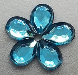 Licht Blauwe Bloemen Pailletten 12mm