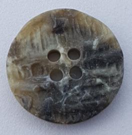 Grijze Steenachtige Knoop 20 mm