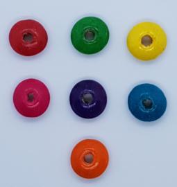 Gekleurde Platte Kralen 14x6mm (10 stuks)