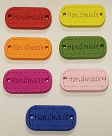 """Gekleurde Houten """"Handmade"""" Buttons 25mm"""