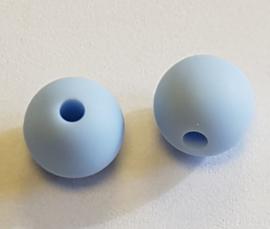 Licht Blauwe Silicone Kralen 10mm (5 Stuks)