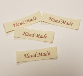 Katoenen Labels Hand Made 1 (10 stuks)