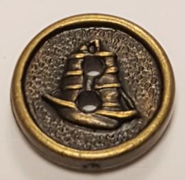 Brons Kleurige Knopen met Schip 13mm