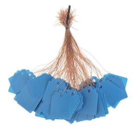 100 Luxe Blauwe Prijskaartjes 3,5 x 2,5 cm