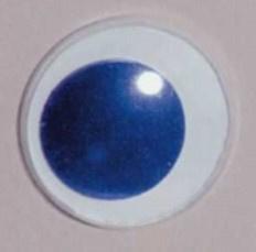 Aannaai Wiebel Ogen Blauw 8mm