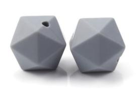 Hexagon Kraal Donker Grijs 14mm