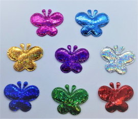 Gekleurde Glitter Vlinders 38x28mm