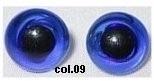 Donker Blauwe Glazen Amigurumi & Beren Ogen 8mm (2 stuks)