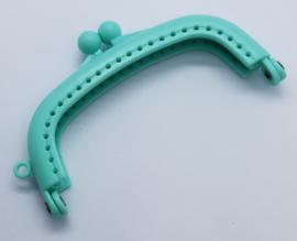 Kunststof Mint Groene Portemonnee Sluiting  8,5 cm