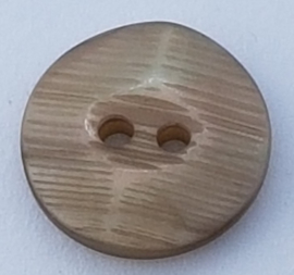 Bruin Beige Knoop met Relief 18mm