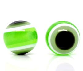 Boze oog kralen 8mm Appel Groen