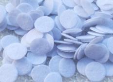 100 Witte Vilten Rondjes 10mm