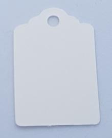 100 Witte Prijskaartjes 30x20 mm