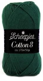 Scheepjes Cotton 8 nr 713 Donker Groen