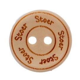 Blank Houten Knoop Stoer 20mm (4 stuks)