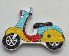 Scooter Knopen  Blauw Geel