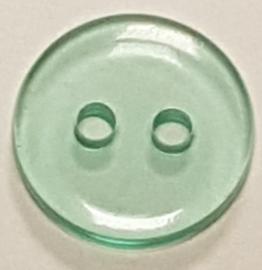 Mint Groene Doorzichtige Knoopjes 11mm (10 stuks)