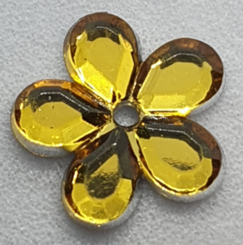 Gele Bloemen Pailletten 10mm