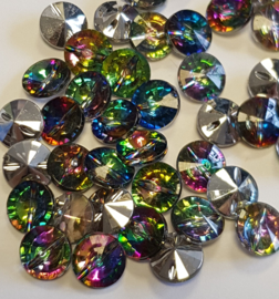 10 Doorzichtige Diamanten Rhinestone knopen 12mm