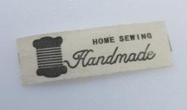 Beige Handmade Labels & Garen 4,5 x 0,9 cm (5 stuks)