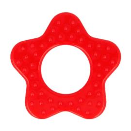 Bijtring - Ster met noppen - Rood