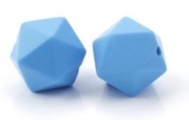 Hexagon Kraal Fel Blauw 14mm