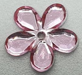 Roze Bloemen Pailletten 12mm