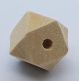 Blank Houten Hexagon Kraal 14mm