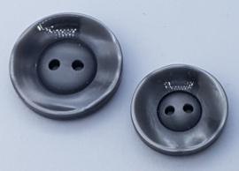 Zilver Grijze Knoop 23 & 27 mm