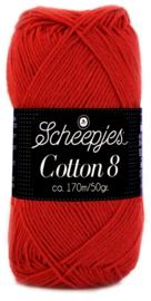 Scheepjes Cotton 8 nr 510 Rood