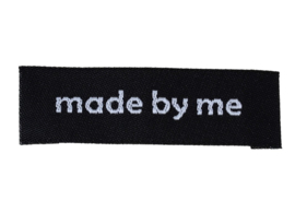 Zwarte Stoffen Made by Me labels  (5 stuks)