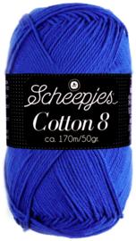 Scheepjes Cotton 8 nr 519 KobaltBlauw