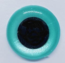 Veiligheidsogen Parel blauw 12mm (2 stuks)