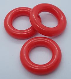 Plastic ringetjes - 25 mm - Rood (5 Stuks)