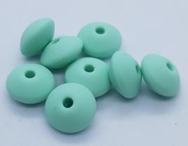 Lentil Kralen 12mm - Mint Groen